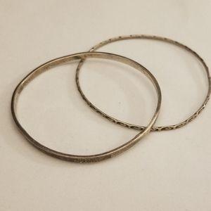 Vintage, set of 2 silver bracelets